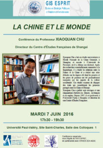 affiche conference Pr Chu 7 juin 2016